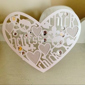 Claire's Metal Heart Earring Holder